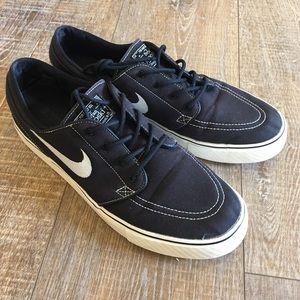 Nike Zoom Air Stefan Janoski Black Sneakers Sz 11